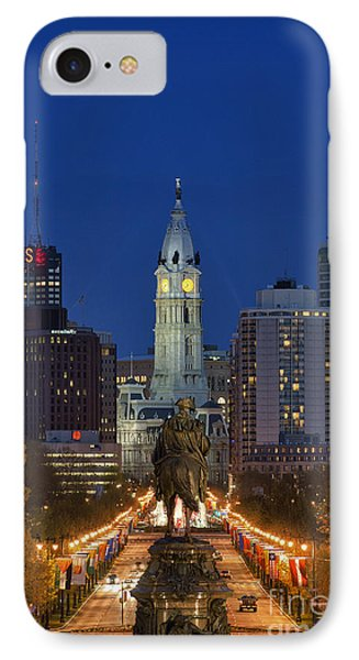 Washington Monument And City Hall Phone Case by John Greim