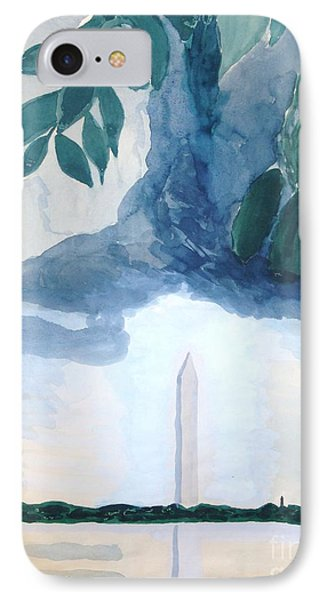 IPhone Case featuring the painting Washington Monument by Rod Ismay