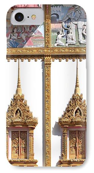 Wat Kan Luang Ubosot Windows Dthu189 Phone Case by Gerry Gantt