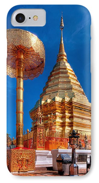 Wat Phrathat Doi Suthep IPhone Case by Adrian Evans