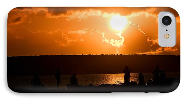 Watching Sunset IPhone Case by Yew Kwang