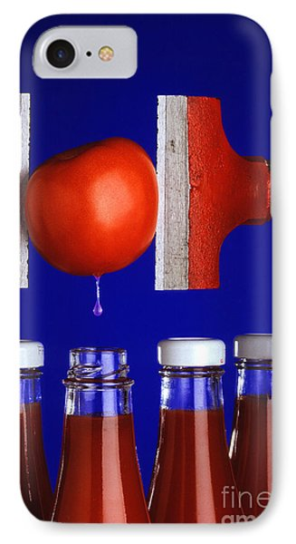 Water Extraction From Tomato Phone Case by Photo Researchers