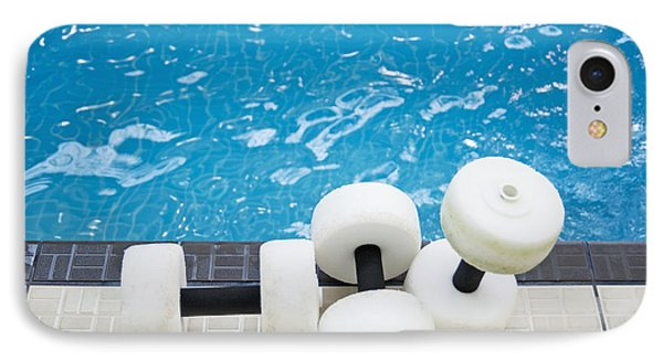 Water Floats At Poolside Phone Case by Marlene Ford