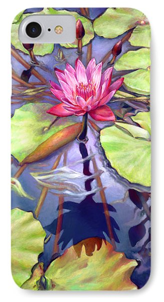 Water Lilies In The Center Of Their Universe IPhone Case