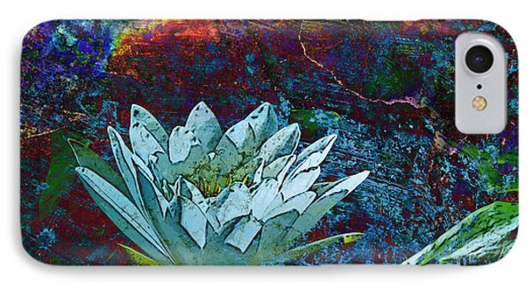 Water Lily Abstract Phone Case by Phyllis Denton