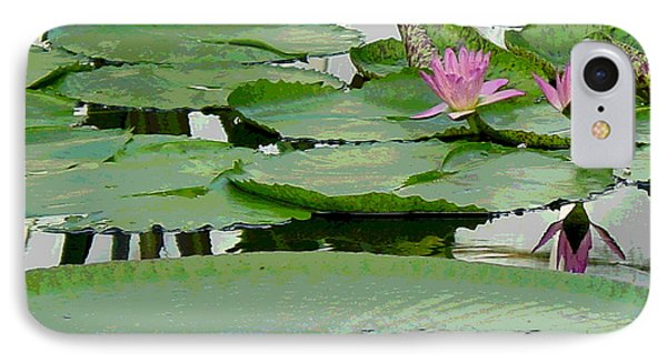 Water Lily Land IIi Phone Case by Suzanne Gaff