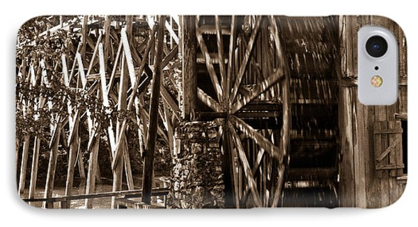 Water Mill In Action Phone Case by Douglas Barnett