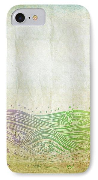 Water Pattern On Old Paper Phone Case by Setsiri Silapasuwanchai