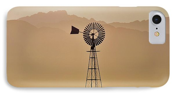 IPhone Case featuring the photograph Water Pump Windmill by Werner Lehmann