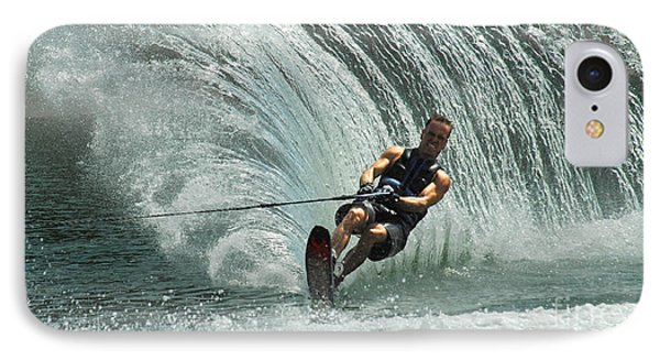 Water Skiing Magic Of Water 10 Phone Case by Bob Christopher