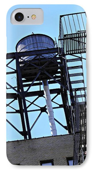 Water Tower In The Heights Phone Case by Sarah Loft