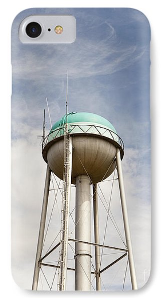 Water Tower With A Cellphone Transmitter Phone Case by Paul Edmondson