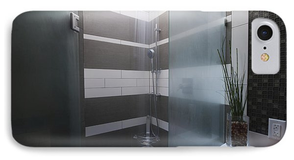 Water Turned On In A Shower Phone Case by Marlene Ford