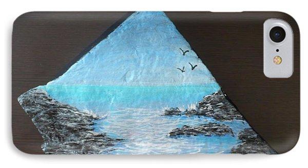 Water With Rocks Phone Case by Monika Shepherdson