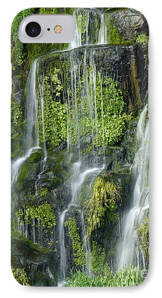 Waterfall At Columbia River Washington Phone Case by Ted J Clutter and Photo Researchers