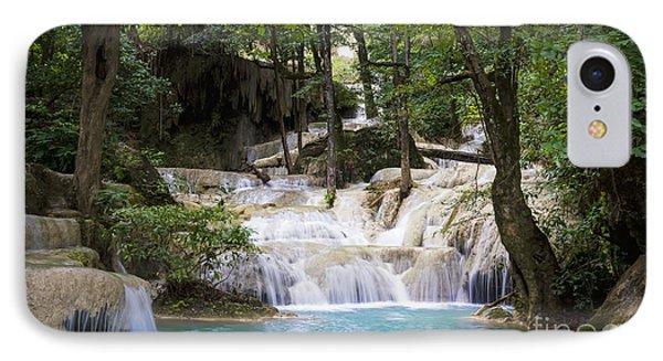 Waterfall In Deep Forest Phone Case by Setsiri Silapasuwanchai