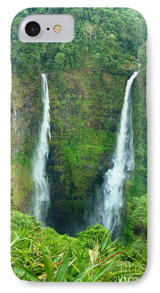 IPhone Case featuring the photograph waterfall in Laos by Luciano Mortula