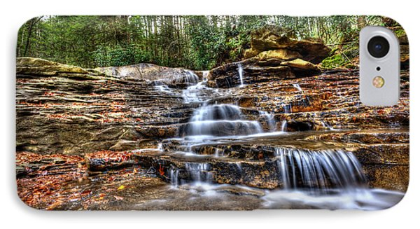 Waterfall On Small Creek Going Into The Big Sandy River Phone Case by Dan Friend