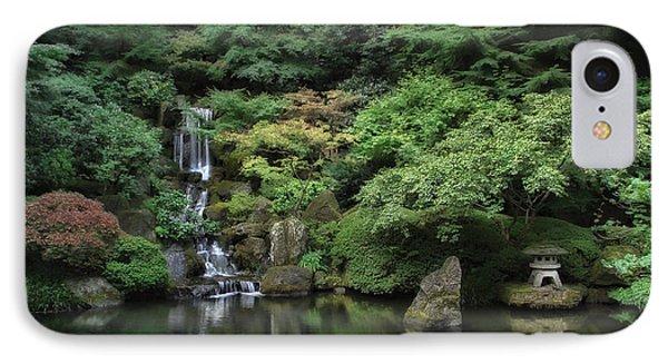 Waterfall - Portland Japanese Garden - Oregon Phone Case by Daniel Hagerman