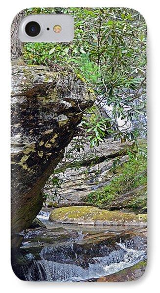 Waterfall Rock Phone Case by Susan Leggett