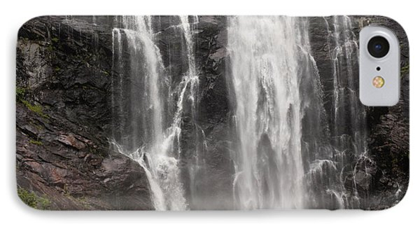 Waterfalls Over A Cliff Norway Phone Case by Keith Levit
