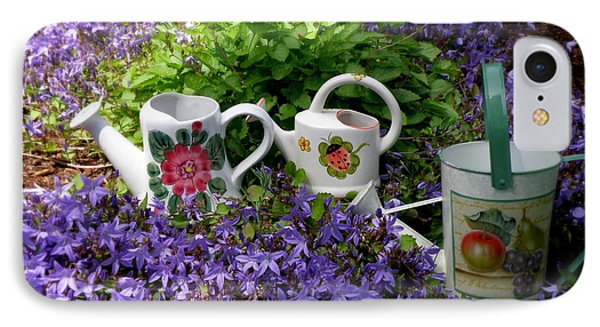 Watering Cans And Campanula IPhone Case