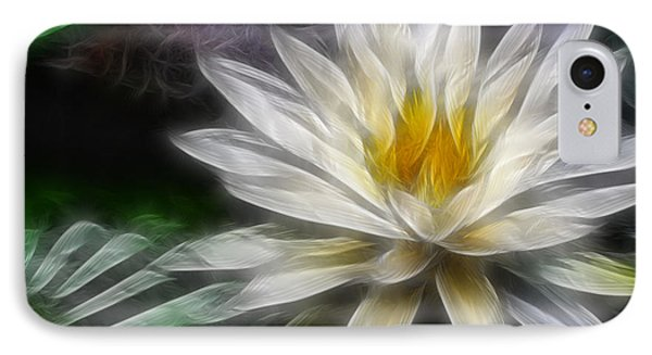 IPhone Case featuring the digital art Waterlily In Pseudo-fractal by Lynne Jenkins