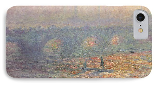 Waterloo Bridge IPhone Case by Claude Monet