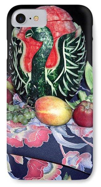 Watermelon Swan Phone Case by Sally Weigand