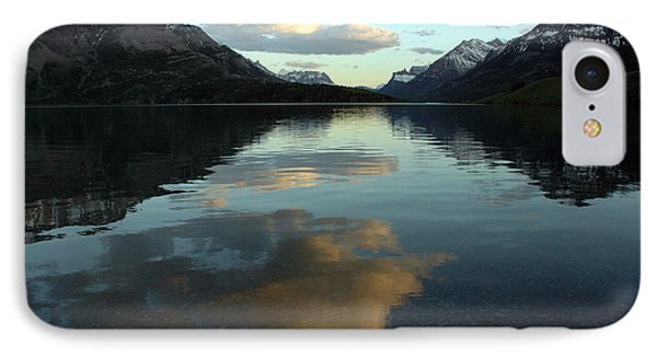 Waterton Lake Sunset Canada IPhone Case by Vivian Christopher