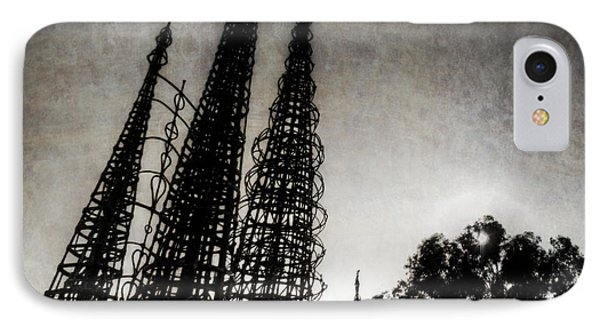 Watts Towers IPhone Case by Natasha Bishop