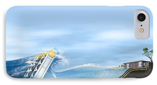 Wave Energy Converter, Artwork Phone Case by Claus Lunau