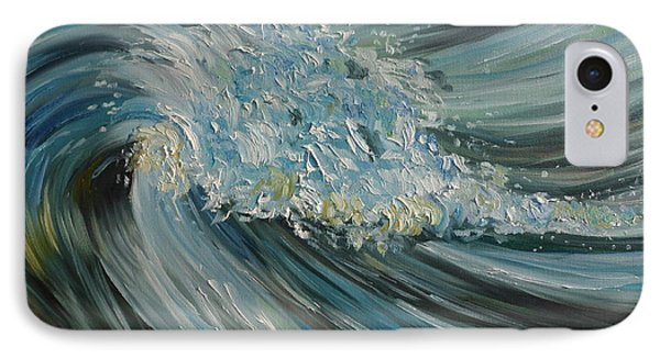 IPhone Case featuring the painting Wave Whirl by Julie Brugh Riffey