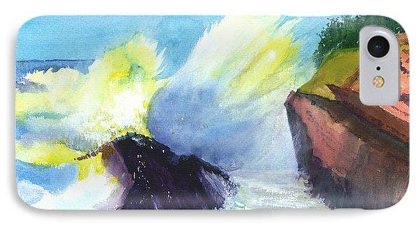 Waves 1 Phone Case by Anil Nene