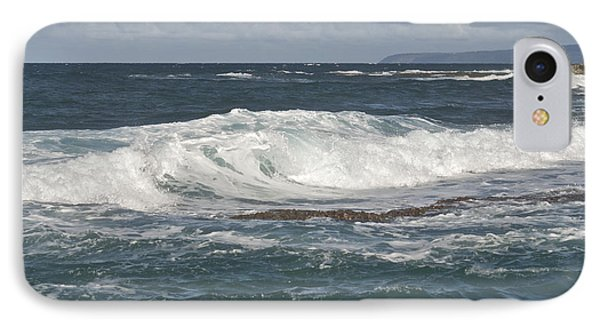 Waves Breaking 7952 Phone Case by Michael Peychich