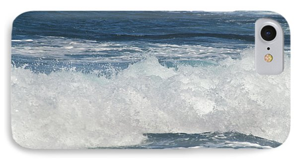 Waves Breaking 7964 Phone Case by Michael Peychich