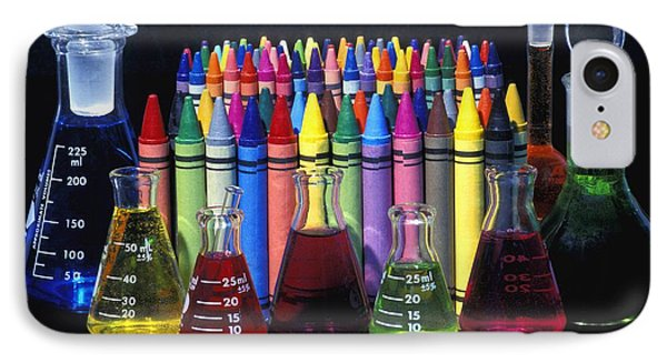 Wax Crayons And Measuring Flasks Phone Case by David Chapman