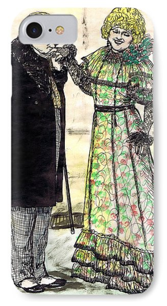 W.c.fields And Jan Phone Case by Mel Thompson