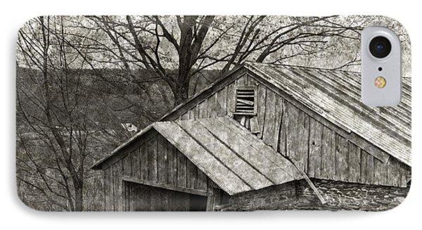 Weathered Hillside Barn Phone Case by John Stephens