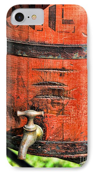 Weathered Red Oil Bucket Phone Case by Paul Ward