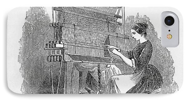 Weaving Loom Phone Case by �science, �industry & Business Librarynew York Public Library