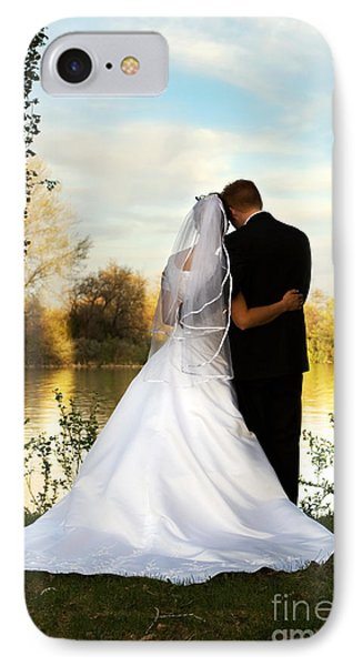 Wedding Couple Phone Case by Cindy Singleton