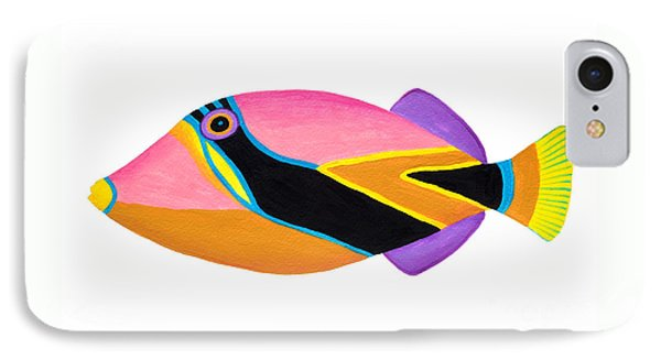 Wedge Tail Triggerfish  IPhone Case by Opas Chotiphantawanon