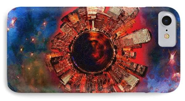 Wee Manhattan Planet - Artist Rendition IPhone Case by Nikki Marie Smith