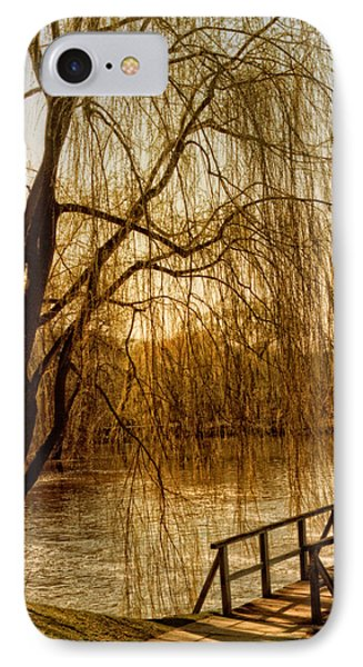 Weeping Willow And Bridge IPhone Case by Barbara Middleton