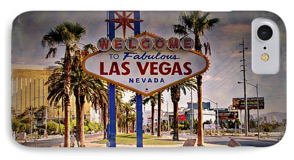 Welcome To Las Vegas Sign Series Impressions Phone Case by Ricky Barnard