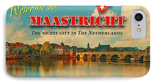 Welcome To Maastricht Phone Case by Nop Briex