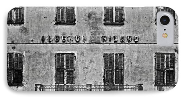 IPhone Case featuring the photograph Welcome To The Hotel Milano by Andy Prendy