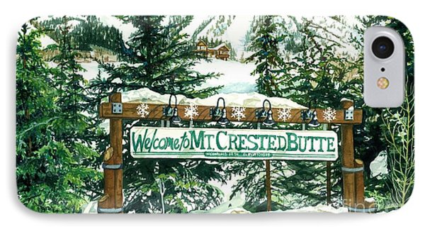 Welcome To The Mountain Phone Case by Barbara Jewell