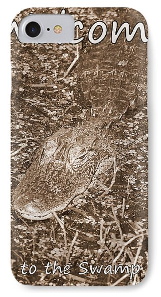 Welcome To The Swamp - Sepia IPhone Case by Carol Groenen